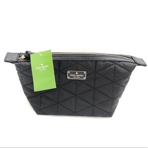 Kate Spade makeup bag pouch zipper quilted